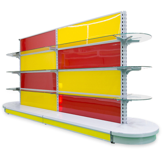 Glass display shelf